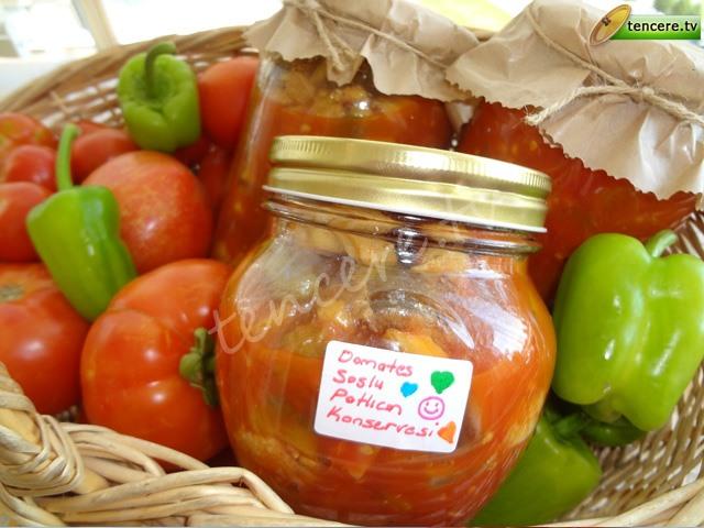 Domates Soslu Patlıcan Konservesi tarifi