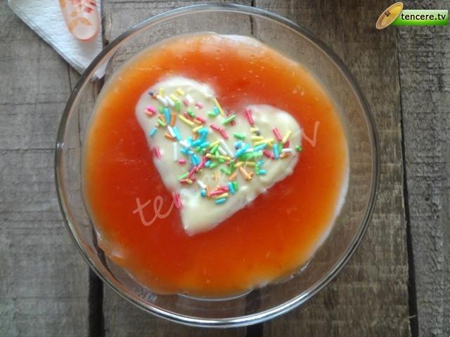 Portakallı Aşk Muhallebisi tarifi