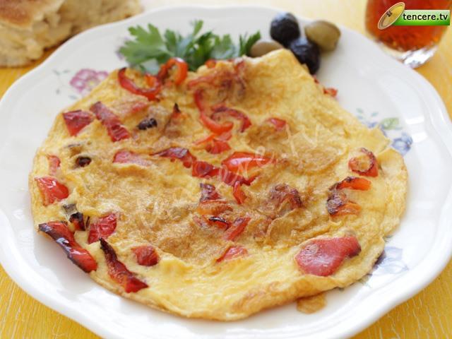 Biberli Omlet tarifi