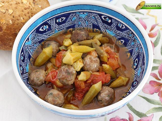 Minik Köfteli Bamya Yemeği tarifi