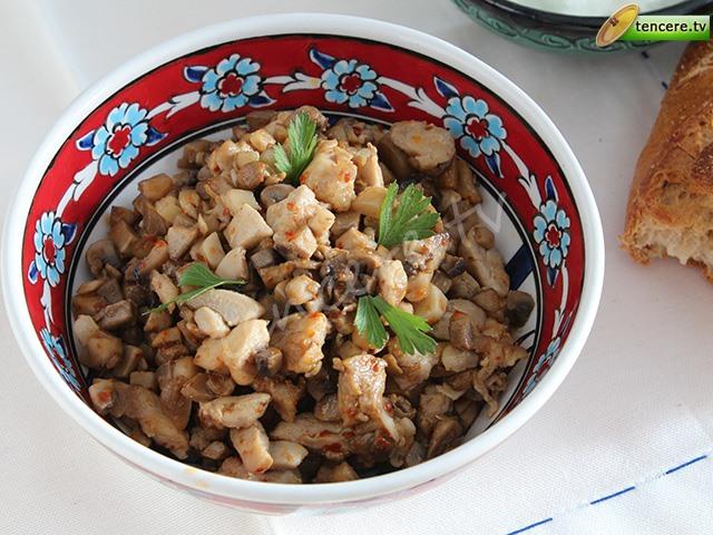 Baharatlı Mantarlı Tavuk Sote tarifi